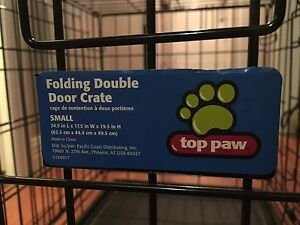 Small dog kennel and pad 75$