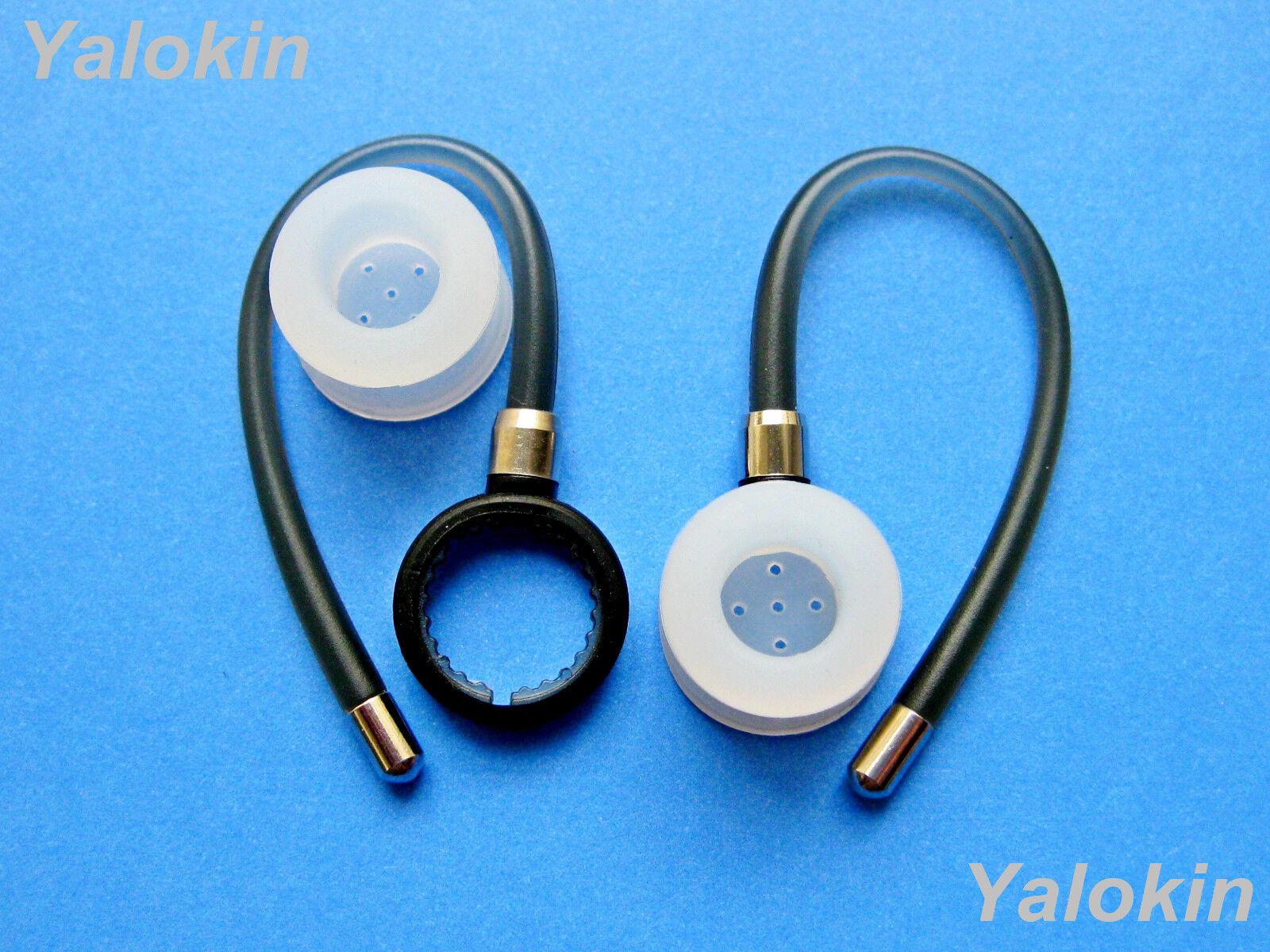 2 Gray Ear-hooks and Earbuds for Motorola HX600 Boom Bluetoo