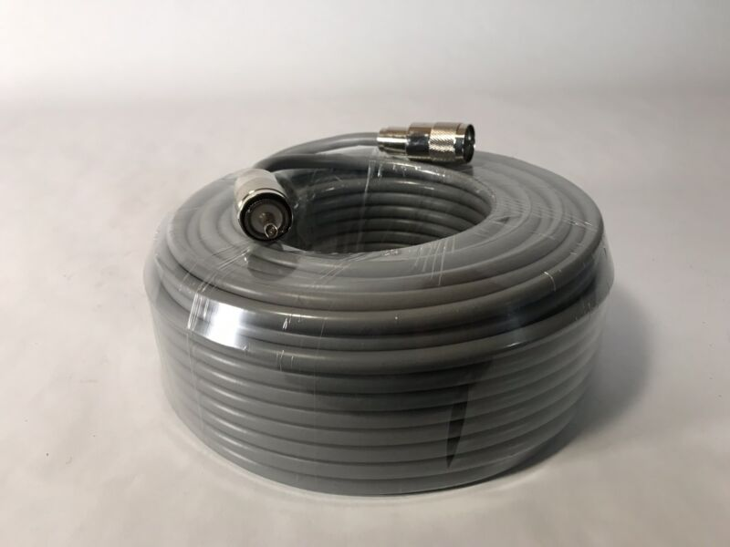 100FT RG-8x COAX COAXIAL CABLE LOW LOSS w/ MALE PL-259 CB HAM RADIO RG8 NEW!