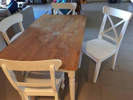 Four seat wooden table set Turner North Canberra Preview