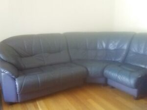 Leather modular lounge (parts)