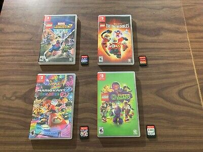 Mario Kart 8 Deluxe +The Incredibles + LEGO DC Super Villains +Heroes 2 (Switch)