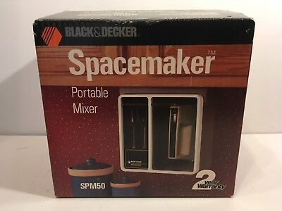 Vtg Black & Decker Spacemaker Portable Mixer SPM50 Under Cabinet New Open Box