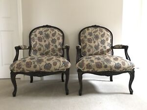 Two matching French ,Luis XV style armchairs