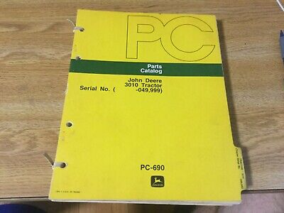 John Deere 3010 Tractor Parts Manual Catalog