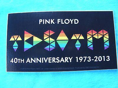 "Pink Floyd TDSOTM Dark Side of The Moon 40th Anniversary 1973 - 2013 3"" Sticker"