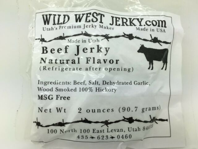 #1 BEST Natural Grass Fed Hand Stripped 2 OZ. Delicious Tasty Beef Natural Jerky