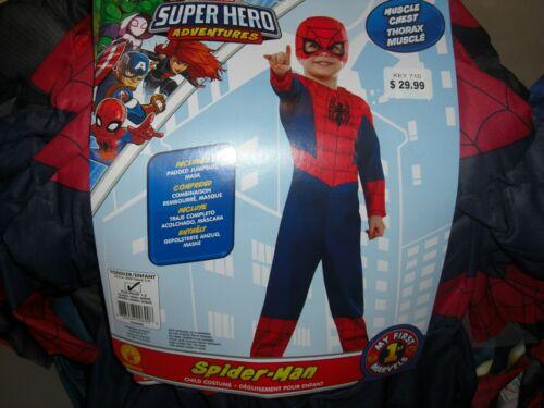 MARVEL SUPERHERO ADVENTURES Spiderman Costume, Toddler 2T New