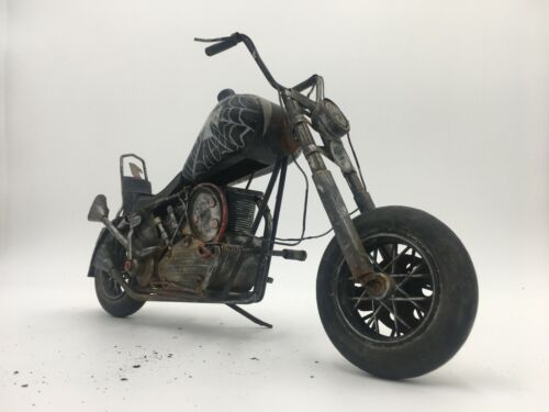 (One and Only!) Vintage Metal Chopper Motorcycle Art Sculpture Model Made in USA