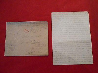 Original Brief Feldpost Kriegsgefangenenpost 25.03.1945