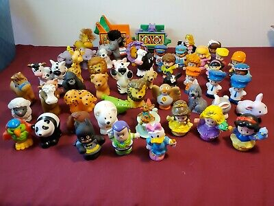 Fisher Price Little People Lot of Over 50 Figures Animals Train Disney Batman