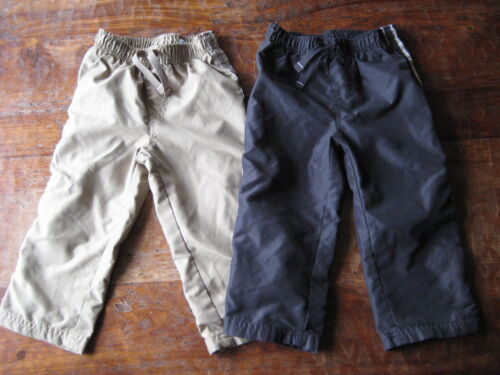 Jumping Beans Toddler Boy Athletic Pants Lot Pull On Pants Lined 24 Months 2