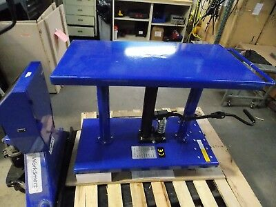 Worksmart Hydraulic Lift Table 1000 Lb Cap. 30 To 47-12 H Ws-mh-lftb1-110