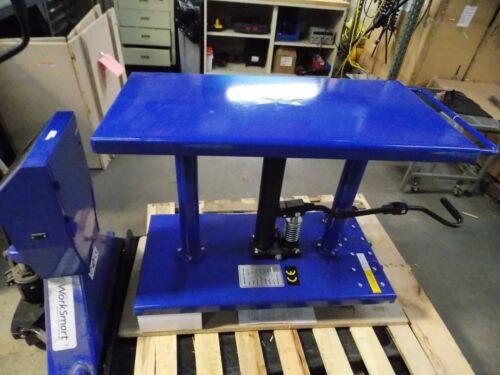 "WorkSmart Hydraulic Lift Table 1000 lb Cap. 30"" to 47-1/2"" H #WS-MH-LFTB1-110"