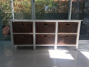 TV stand Toy Storage Credenza Hall Table Family Room Cane Drawers