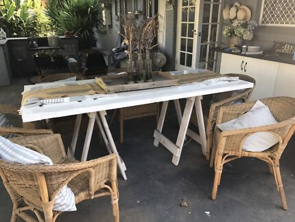 Rustic country style dining table
