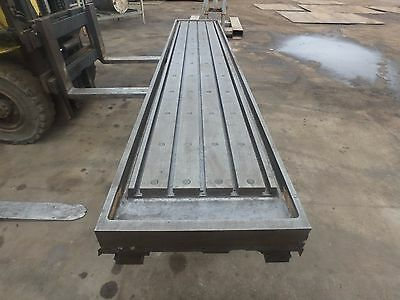 157 X 28x 8 Steel Welding T-slot Table Cast Iron Layout Plate Fixture 5 Slot