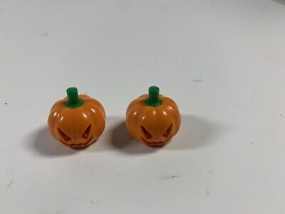 Lego 2 Jack O' Lantern Mini Figures Orange Pumpkin