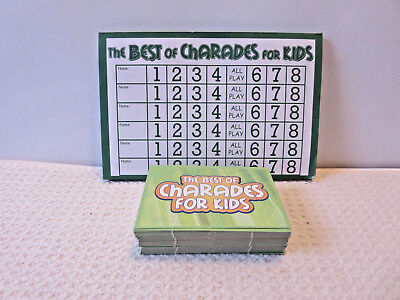 Pressman Best of Charades for Kids Extra Spare Replacement Cards Score (Best Tablet For Kids Games)