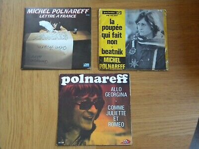 LOT DE 3 x 45T DE MICHEL POLNAREFF