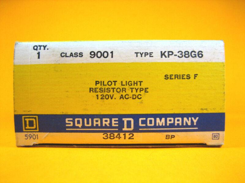 Square D -  9001KP-38G6 -  Pilot Light Resistor Type, 120V AC-DC