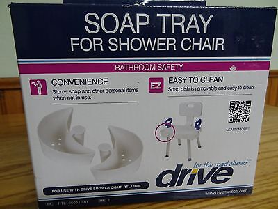 (Drive Medical Soap Tray for shower chair with folding back-new)