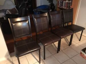 4 dining chairs and 2 bar height chairs  from Bowring