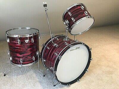 Vintage 1970 Ludwig Standard 3 pc Drum Kit Ruby Strata 100% Original VERY Nice!
