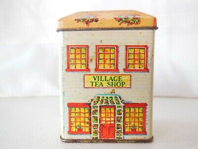 Lillian Vernon 1984 Village Tea Shop Empty Tin