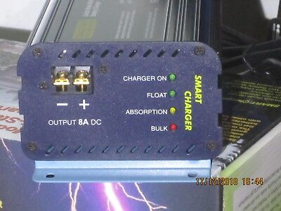 (Smart 3-stage Battery charger, 12V, 8A)