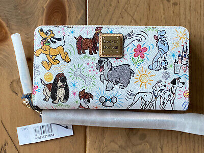 Disney Dooney & Bourke Dogs Sketch Wallet PLUTO DALMATIANS MAX - NWT
