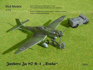 Junkers Ju 87 K-1 (mit Jumo 213)   1/72 Bird Models Umbausatz / resin conversion
