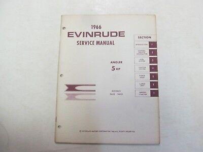 1966 Evinrude Service Shop Repair Manual 5 HP Angler 5602 5603 MINOR STAINS OEM