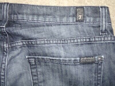 7 FOR ALL MANKIND BOOT CUT MEN'S BLACK DENIM JEANS SIZE 33 X 34 NICE