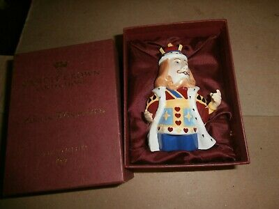 DEPARTMENT 56 ALICE IN WONDERLAND KING OF HEARTS CANDLE CROWN FIGURINE