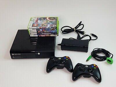 Microsoft Xbox 360 E Console 500 GB Bundle, 5 Games, 2 Controllers