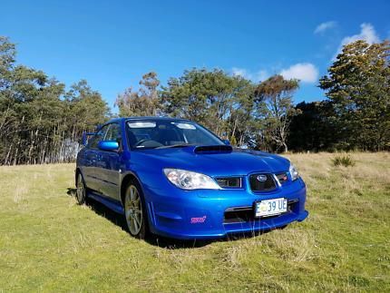 2006 Subaru Impreza WRX STi, 6sp manual, lowered, blue