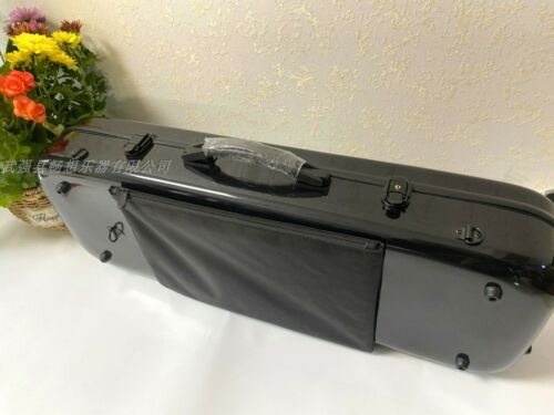 "Strong black Glass fiber viola case 15""-17inch,djustable size inside new"