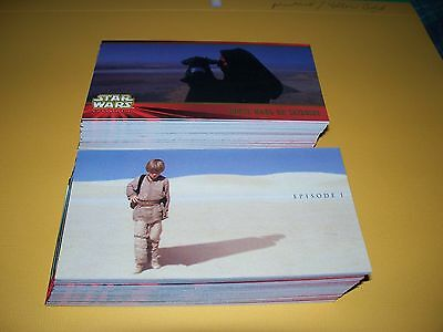 Star Wars EPISODE I - Series One Widevision Complete Trading Card Set