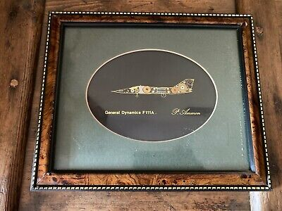 VINTAGE P. Ammon Watch Parts Pictures 'General Dynamics F111A Signed