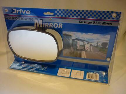 DRIVE XL Clip On Towing Mirror Fits Larger O.E.M. Mirrors. NEW!