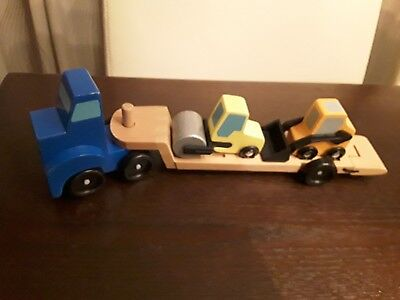 Melissa and Doug Low Loader Classic Wooden Children
