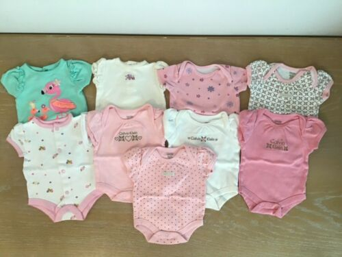 Infant Girls Calvin Klein And Others Clothing Lot Of 9 Size 0-3 Months