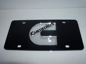 Cummins  License Plate Colors - Black/Silver Brand NEW