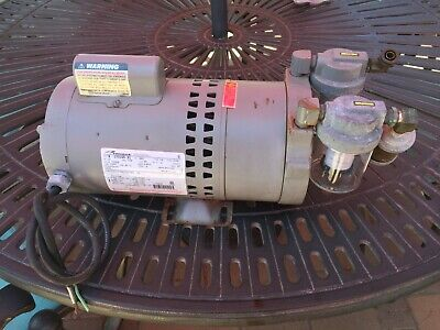 Thomas Vacuum Pump M Ta-0075-v Pn 991091 Thomas 12hp Motor Working Condition