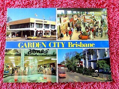 FOUR VIEWS  GARDEN CITY  SHOPPING  CENTRE  BRISBANE  QLD. COLOUR POSTCARD  (Garden City Qld)