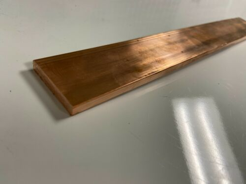 "Copper 110 Flat Bar 1/4"" x 1 1/2"" x 12""-Long -->.25"" x 1 1/2"" Copper Bus Bar"