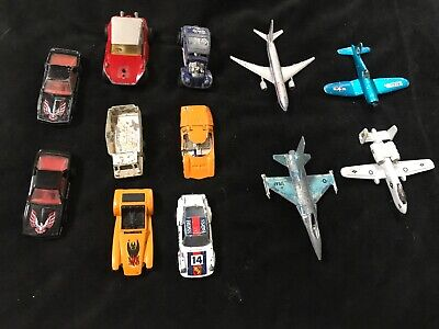 Older Matchbox Car And Airplane Lot. Fair Condition A4