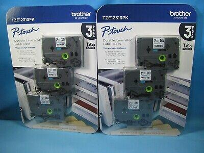 Genuine Brother Tze231 Tze-231 P-touch Label Tape Tz231 Tz-231 6pack