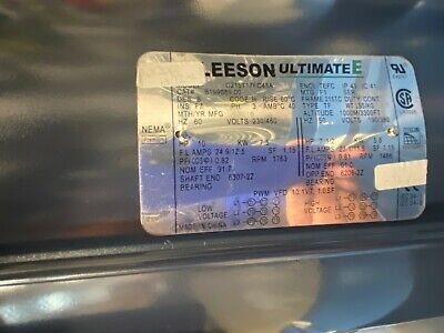 10hp Leeson 1800rpm 215tc Tefc 3ph Ultimate-e Motor B199089.00